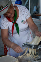 Pasta making demonstration